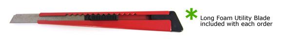 cut foam with utility knife