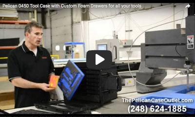 play video: Pelican tool case with custom foam drawers
