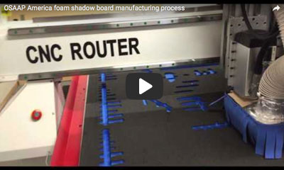 play video: OSAAP America foam shadow board manufacturing process