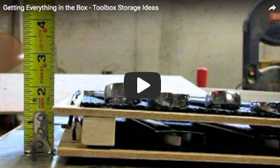 play video Getting everything in a box & Tool Foam Organizer u2013 19 Tips u0026 Hacks for Your Tool Box