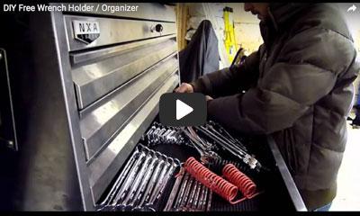 play video: DIY Wrench holder / organizer
