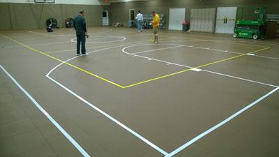 Basketball Court Floor Markings