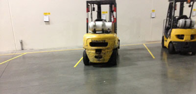 Forklift Floor Markings Example
