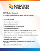 Creative Safety Supply Core Values