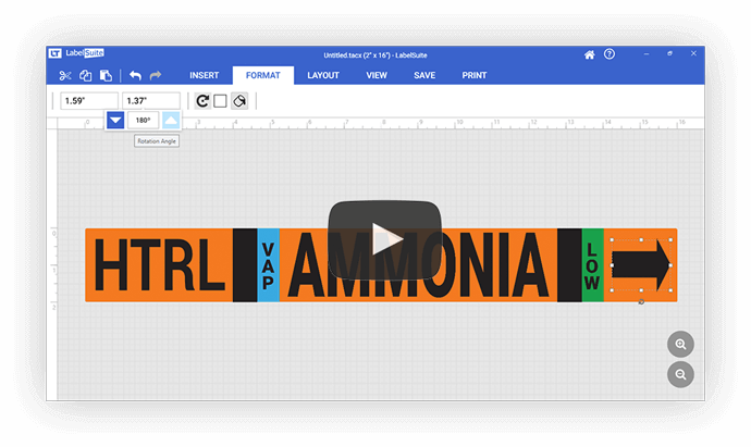 Ammonia Pipe Markers | Creative Safety Supply