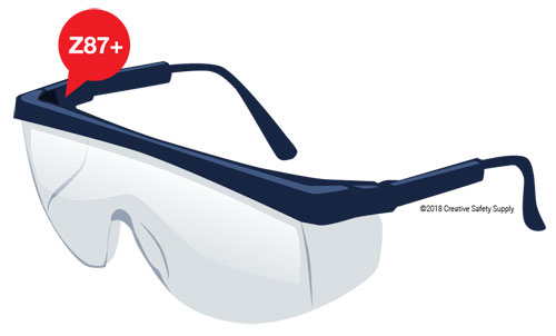 ANZI Z87+ Safety Glasses