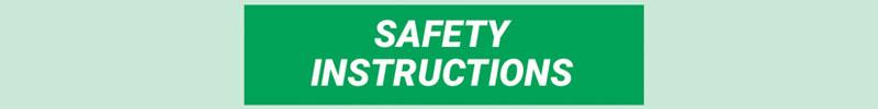 ANSI Safety Instructions Header