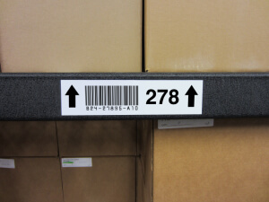 Barcode Rack Label