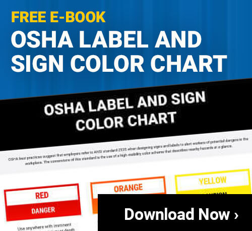 OSHA Label and Sign Color Chart