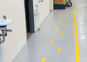 Floor Marking Traffic Routes