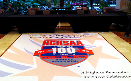 NCHSAA Event Floor Banner