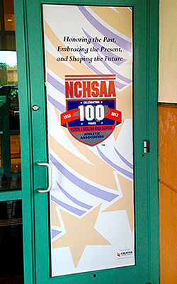 NCHSAA Door Sign