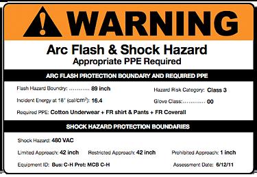 Arc Flash Label