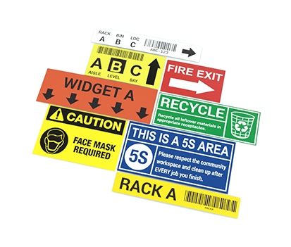 Rack Label Samples