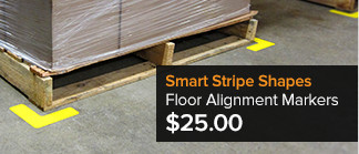 Smart Stripe Shapes - Floor Alignment Markers