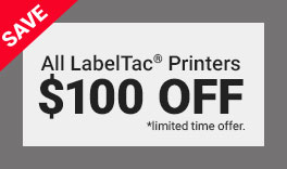 $100 off all LabelTac Printers