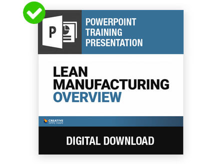 Lean Manufacturing Powerpoint from Creative Safety Supply