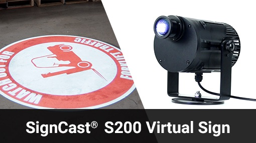 SignCast Virtual (light) Floor Signs - Creative Safety Supply