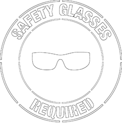 safety glasses required stencil Printable NFPA Labels
