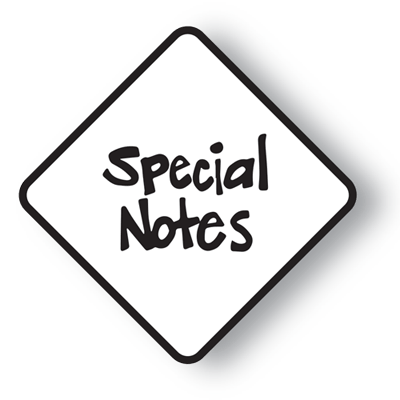 NFPA Diamond Special Notes