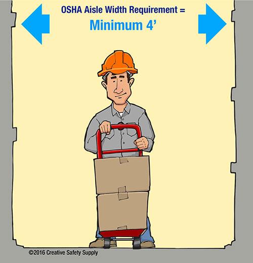 OSHA aisle width requirements