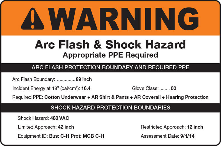 arc flash label requirements
