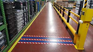 Forklift Zones - Floor Tape