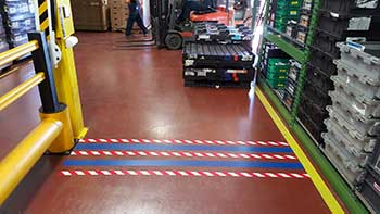 Floor marking for forklift traffic creative safety supply for Floor operator