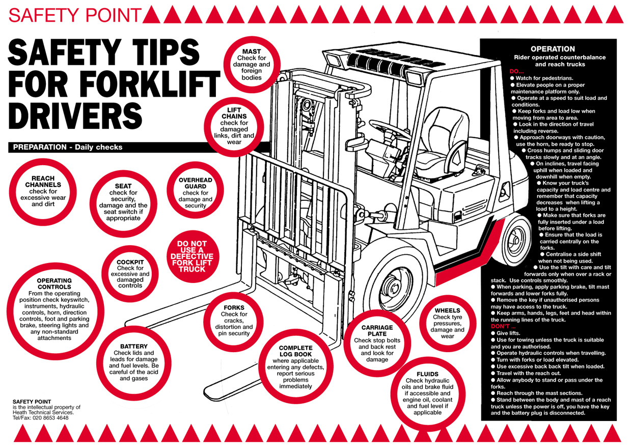 Forklift Safety Tips Creative Safety Supply