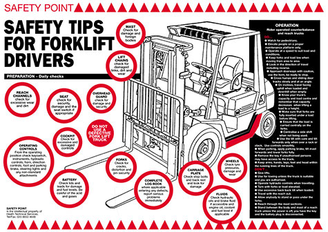 Safety Tips for forklift drivers