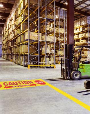 Caution floor sticker