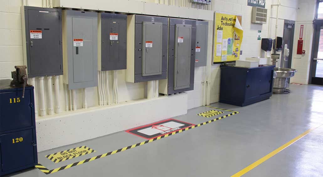 electrical panel clearance osha  | creativesafetysupply.com