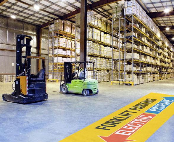 Forklift Parking Floor Stickers