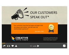 Creative Safety Testimonials Free Slideshare
