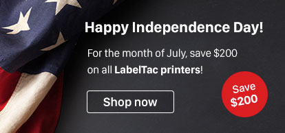 $200 off all LabelTac printers for the month of July