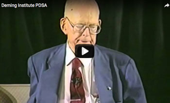play video: Deming Institute PDSA