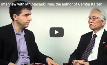 play video: Interview with Mr. Masaaki Imai, the author of Gemba Kaizen