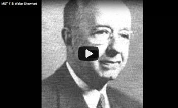 play video: Walter Shewhart