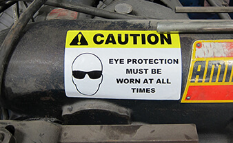 Eye Protection Label