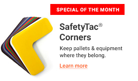 SafetyTac® Corners - Keep pallets & equipment where they belong.