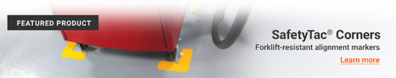 SafetyTac ® Corners - Forklift-resistant alignment markers
