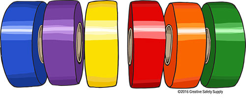 colored aisle marking tape