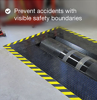 Prevent accidents with visible safety boundaries