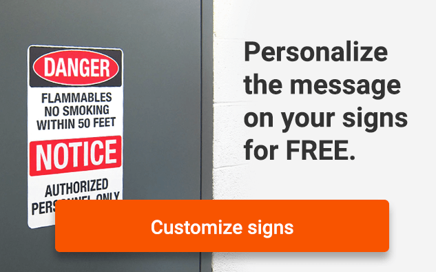 Personalize the message on your signs for free