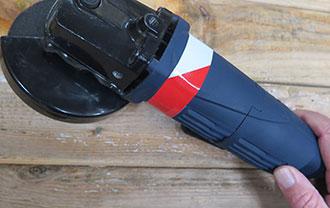 Hazard Striped 5S Tape for variety marking