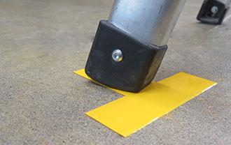 SafetyTac® Shape Tapes smooth on floors