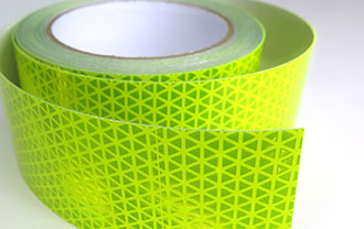 neon brite tape is highly reflective