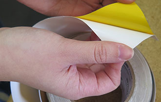 Hazard Striped Smart Tapes easy to install