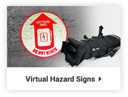 virtual hazard signs